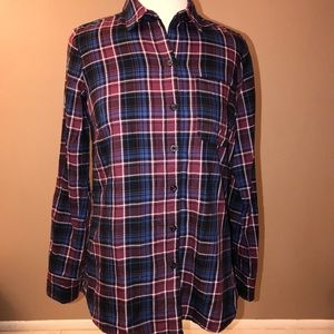 Just in ⭐️ Lucky Brand Plaid Flannel Shirt. EUC